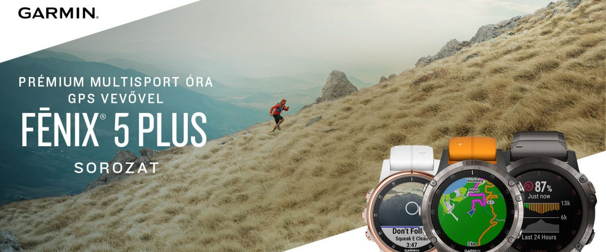 Garmin fenix 5 Plus Multisport óra